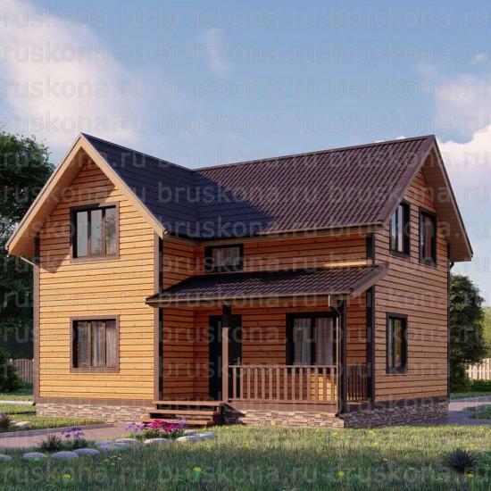 Проект дома из бруса 7x9 м. П-25