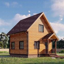 Проект дома из бруса 6x6 м. П-28