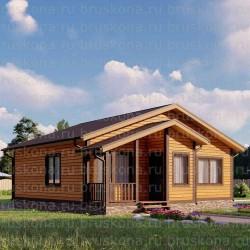 Проект дома из бруса 10x10 м. П-32