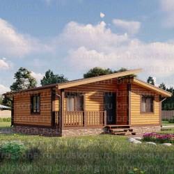 Проект дома из бруса 7x8 м. П-35