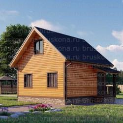 Проект дома из бруса 6x7 м. П-36