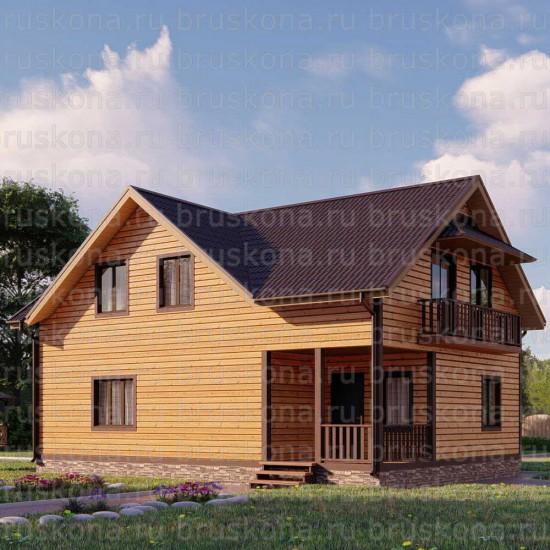 Проект дома из бруса 8x11 м. П-40